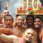 Devotees take a holy dip