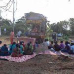 Everyone getting ready for the abhishek of Sri Sri Nitai Gaurasundar